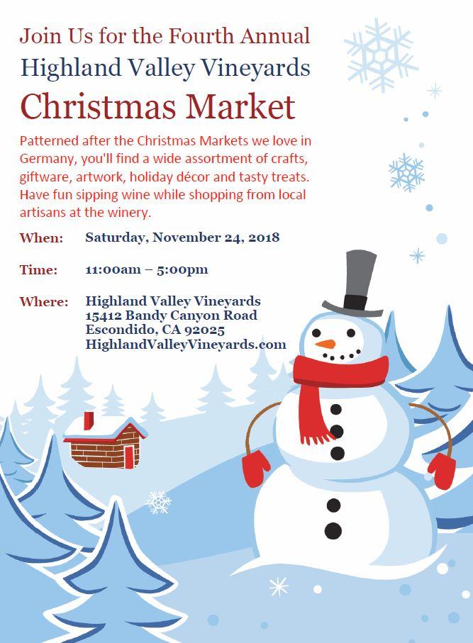 Christmas Market @ Highland Valley Vineyards | Escondido | California | United States
