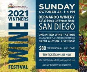 2021 San Diego County Vintners Association  Wine Festival @ Bernardo Winery